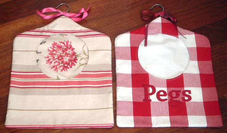 Hand-made bags for clothes pegs