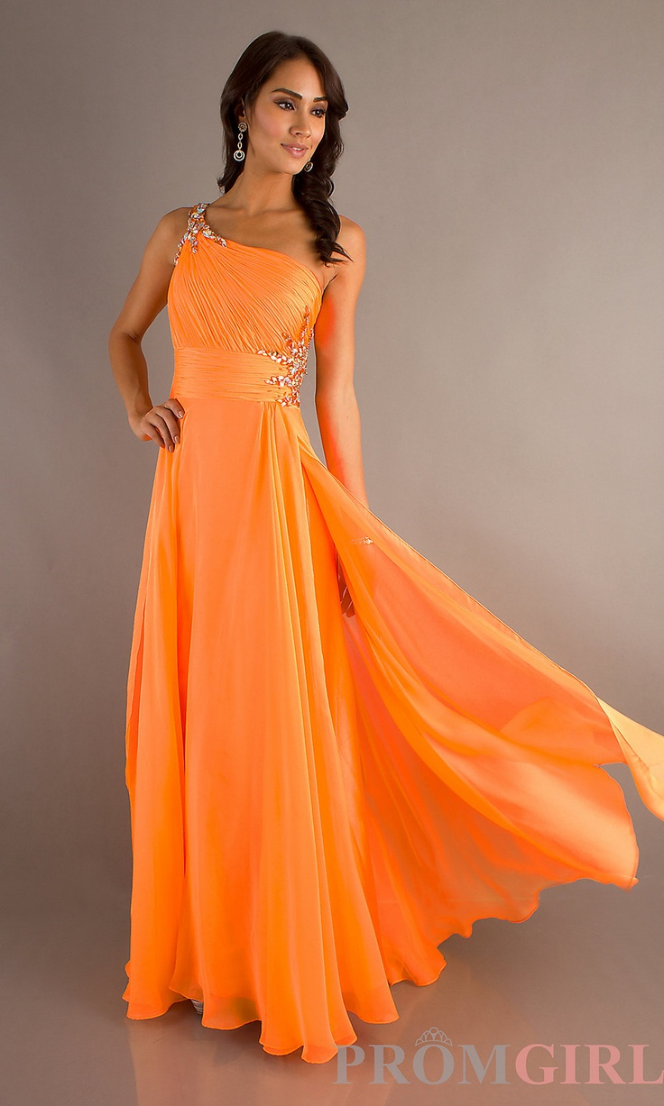 Prom Dresses, Celebrity Dresses, Sexy Evening Gowns at PromGirl: Floor Length One Shoulder Gown