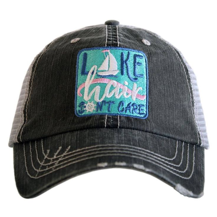 Excited to share the latest addition to my #etsy shop: Lake  Hair Sailboat  don't Care Hat,Lake Sailboat Hat,  Boat Hair,  Hair Don't Care, Sailing clothingWoman's Hat
