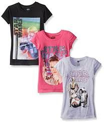 Star Wars Big Girls' The Force Awakens Episode 7 Graphic Tee (Pack of 3)
