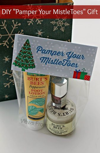 "DIY ""Pamper Your MistleToes"" Gift - Great Christmas gift idea for nurses, teachers, or anyone that could use a little pampering (sponsored)"