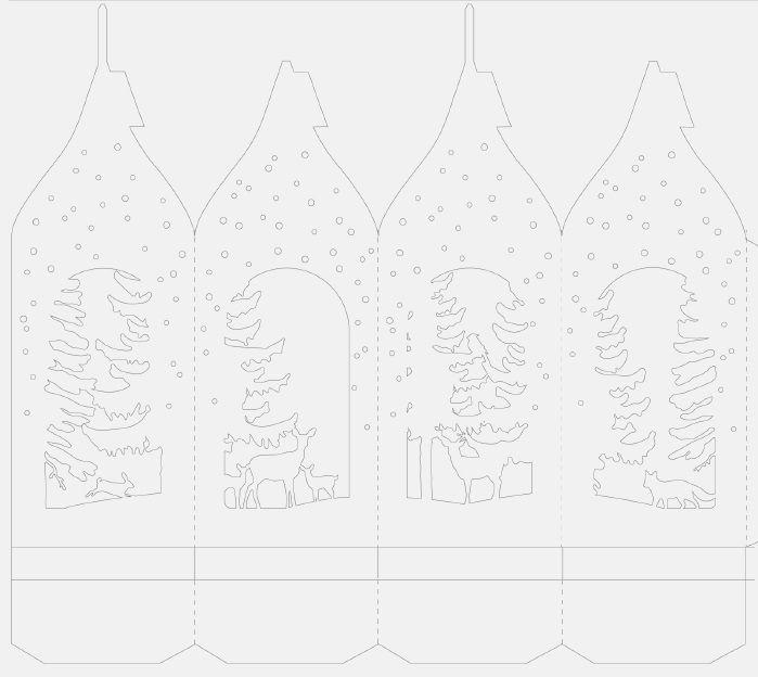 Виталина, новогодние открытки в технике киригами шаблоны