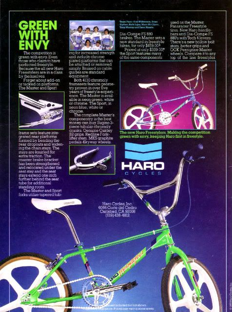 Classic Haro Master/Freestyler advertisement
