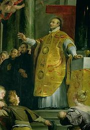 St. Ignatius Loyola, Roman Catholic Priest  founder of The Society of Jesus, or Jesuits. There are 38 members of the Society of Jesus who have been declared Blessed, and 38 who have been canonized as saints. Feastday July 31