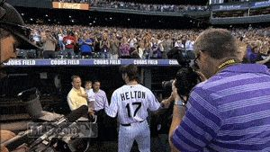 peyton manning  Todd Helton | Todd Helton's moving Coors Field retirement ceremony...