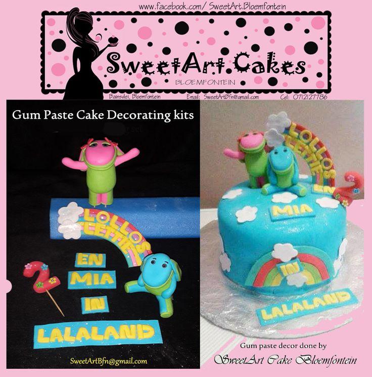 Lollos en Lettie gum paste decorations kits Gorgeous Cakes, cupcakes, gum paste cake toppers, cupcake toppers & gum paste decorations kits. Email:  SweetArtBfn@gmail.com; Call: 0712127786;  (We deliver gum paste toppers nation wide)