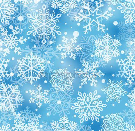 Скачать - Снежинки шаблон — стоковая иллюстрация #6597159