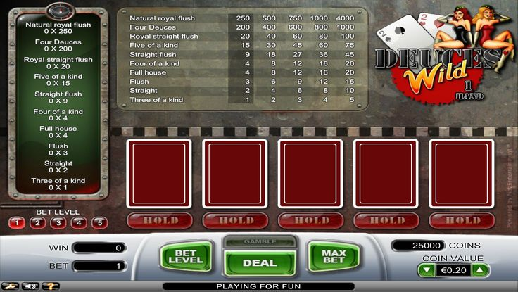 Play Classic Deuces Wild and start winning big with video pokers at #Betluck Casino. Join us today and experience the outstanding features such as a multi-hand play, a Hi-Lo Bonus and a double bonus, and win up to a credit of 16,000 with variable card speed!! Hurry up play now for real money and get £750 extra on first deposit!
