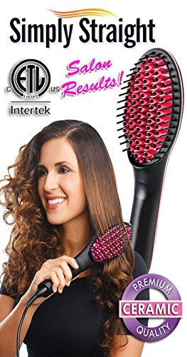 Original Deluxe Canadian Simply Straight Ceramic Straightening Brush (Brosse céramique) - Fully Compliant to Canadian Standards