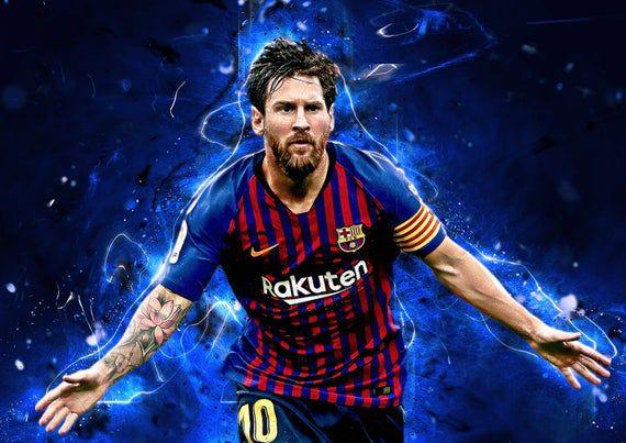 Lionel Messi Barcelona Football Art Poster Print T1544 A4 A3 A2 A1 A0|