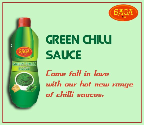 Saga Green Chilli Sauce #Ketchup_sauces_vinegar_manufacturers #tasty_food #Indian_food #food_fantasy #food_lovers #healthy_food http://www.mbgpaam.com/paam-eatable/more.php