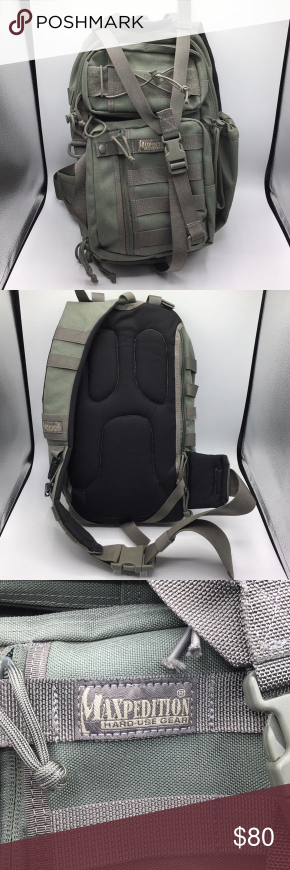 "Maxpedition Sitka S-type sling backpack. Maxpedition Sitka S-type sling backpack. Excellent condition. Has lots of compartments and pockets. Overall measurement is 16"" tall, 11"" wide, 5"" deep. This is a rough measurement. maxpedition Bags Backpacks"