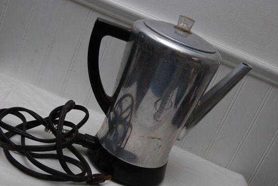 Electric Coffee Pot Vintage Percolating by GoosenestPrairieRose