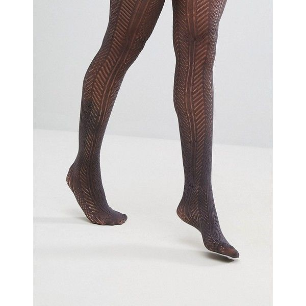 Gipsy Chevron Crochet Tights ($13) ❤ liked on Polyvore featuring intimates, hosiery, tights, grey, gray opaque tights, grey stockings, grey pantyhose, opaque tights and opaque stockings