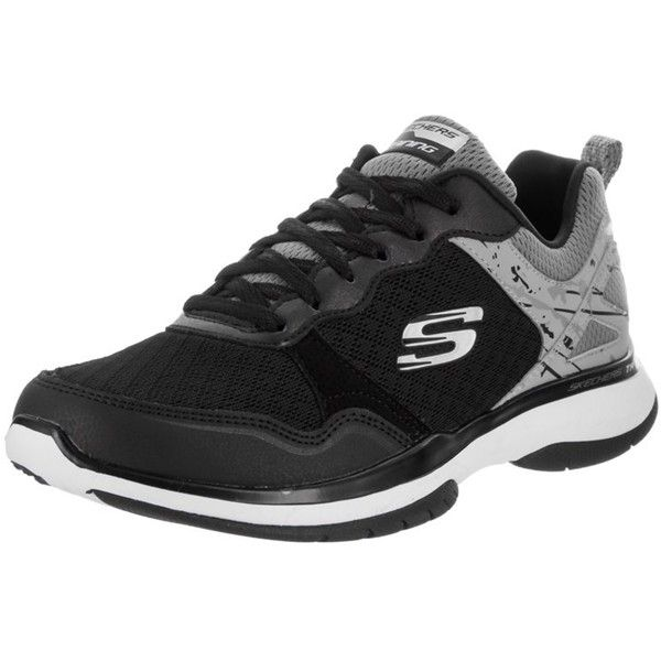 Skechers Skechers Women's Burst Tr Training Shoe | Bluefly.Com (159.925 COP) ❤ liked on Polyvore featuring shoes, athletic shoes, black, laced shoes, skechers footwear, athletic training shoes, skechers shoes and black laced shoes