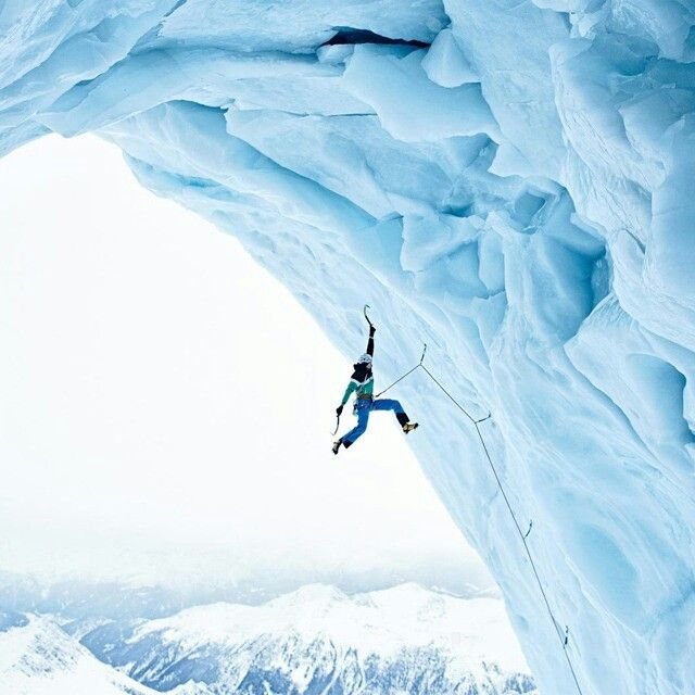Ice climbing? With a small pick axe? Yeah, let's do it.