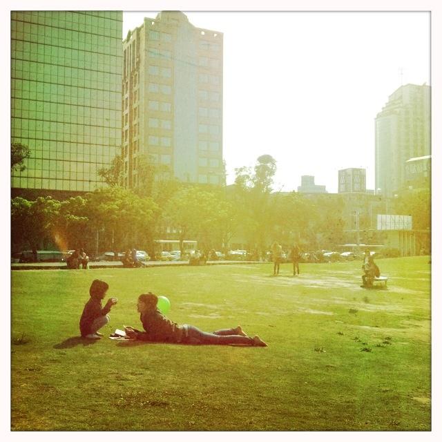 A leisure day in Huashan 1914 Creative Park, Taipei, Taiwan.  (http://www.huashan1914.com/en/index.html)