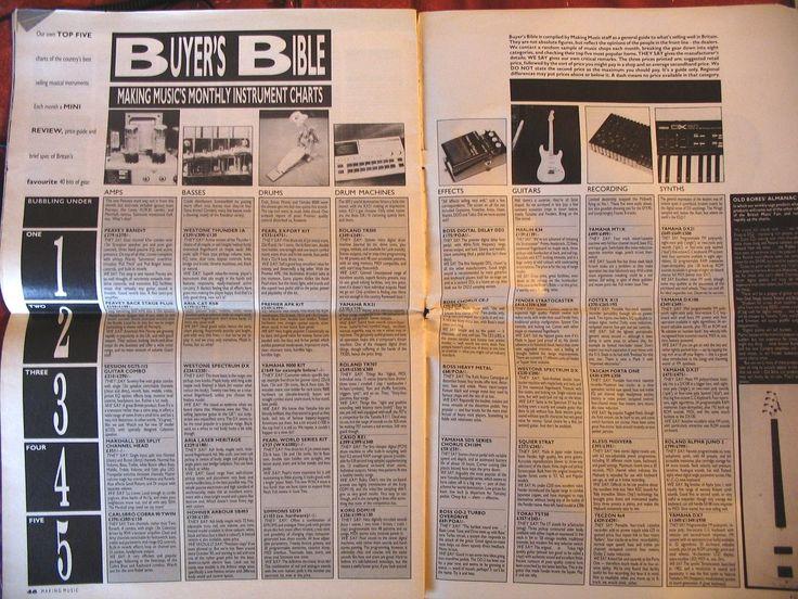 'Making Music' magazine's Buyers Bible c 1987