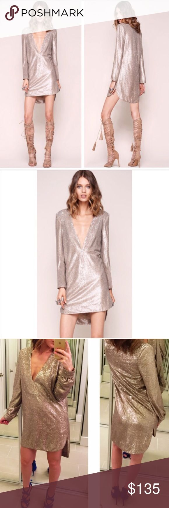 The JetSet Diaries Sequins Oasis Dress - S As STUNNING as it looks. EUC - only worn once but it's too small for me. Will envy the new owner. Price firm please. Thanks 💕😘 **ONLY TAGGING FREE PEOPLE FOR EXPOSURE** Free People Dresses