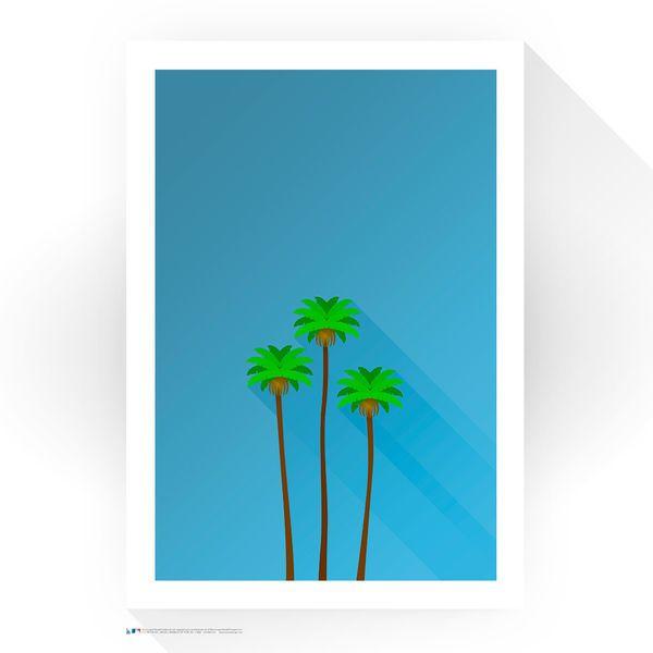 "Los Angeles Dodgers 24"" x 32"" Dodger Stadium The Three Sisters Minimalist Art Giclee Print - $249.99"