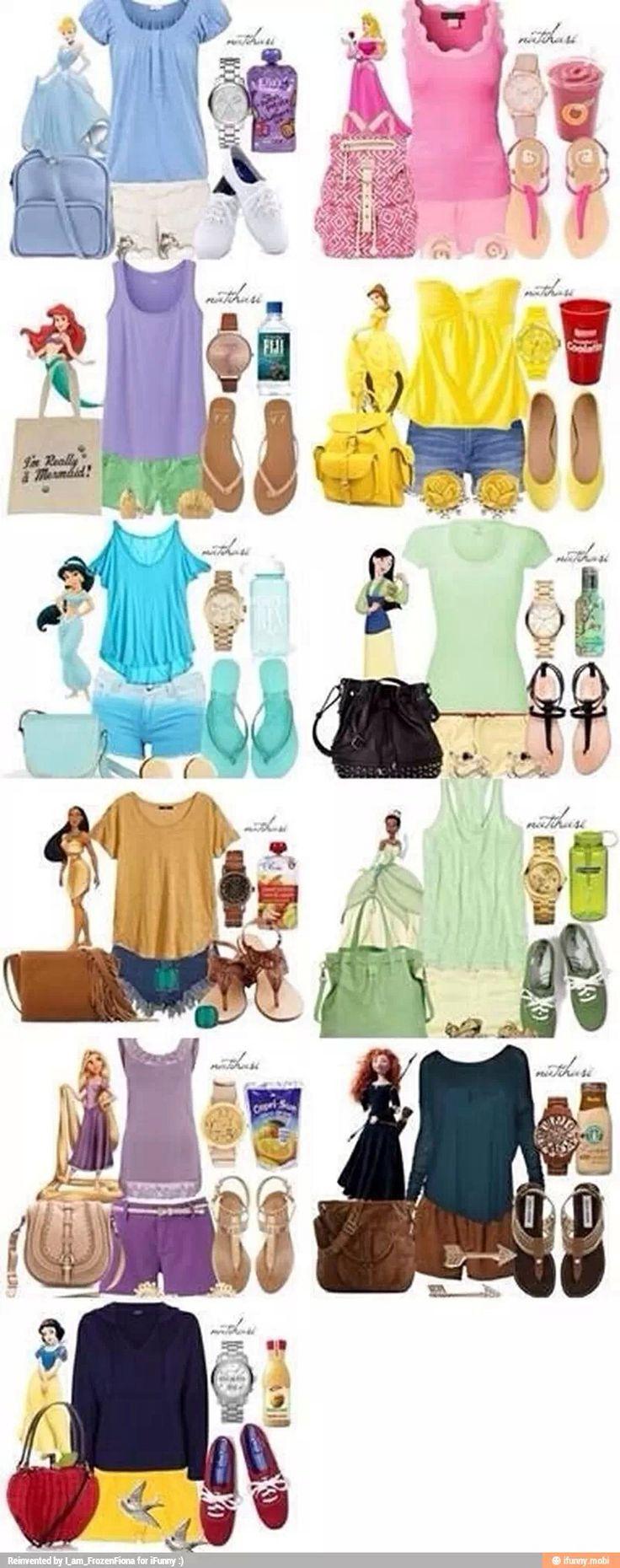 Disney princess fashion. I like Pocahontas's and Merda's the best