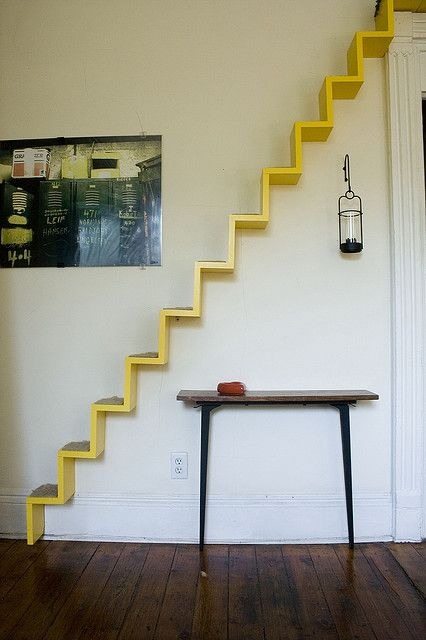 Cat Walk by Design Sponge/Grace Bonney: @Rebecca Silbermann: Max would like this in his next house. #Cat_Staircase #Design_Sponge #Grace_Bonney