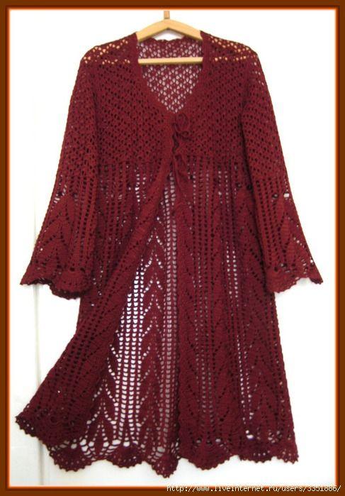 crochet jacket, great shape!