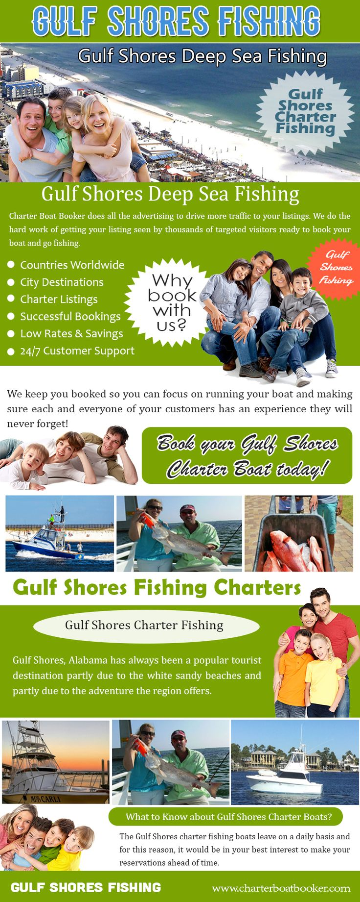 Check this link right here https://www.charterboatbooker.com/location/united-states/alabama/gulf-shores-charter-boats/ for more information on Gulf Shores Deep Sea Fishing. Gulf Shores Deep Sea Fishing Charter Boats be available in all sizes and shapes to fit any potential sea traveler, weekend break pirate, or fabulous fish killer - or anybody else that enjoys boating. These are different advantages of a charter boat which you could experience by employing one.