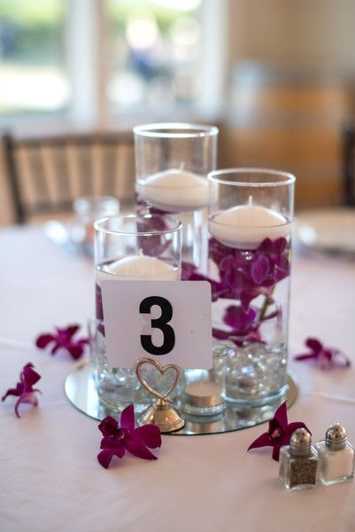 Formal Virginia Vineyard Wedding Simple CenterpiecesPurple FavorsWedding DecorationsHurricane CenterpieceCenterpiece IdeasReception