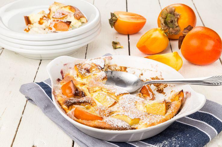 Hälsosam dessert med sharonfrukt och kvarg! Perfekt för den som vill ha ett lite nyttigare alternativ.