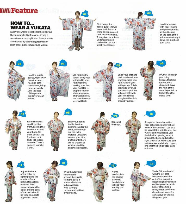 """Image detail for -How to wear a """"YUKATA"""""""