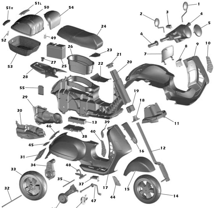 8 best Vespa Auspuff Vespa Exhaust System images – Diagram Of Scooter Engine