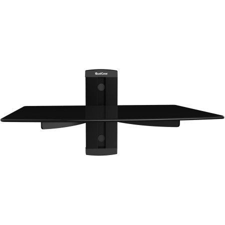 QualGear Universal Single-Shelf Wall Mount for Most A/V Components, Black