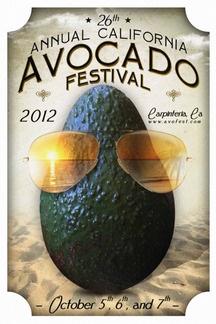 2012 Official California Avocado Festival Poster Oct 5,6,7 2012