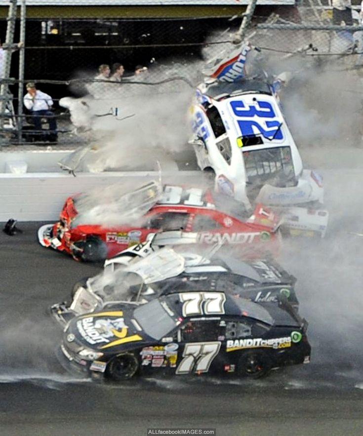 """2013 - Kyle Larson's (#32) into the Fence, Last Lap """"Nationwide 300"""" Daytona…"""