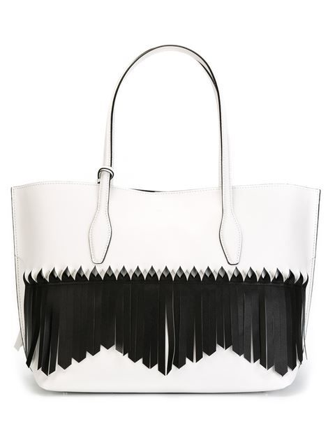 Shop Tod's fringed 'Joy' tote  in Vietti Crans from the world's best independent boutiques at farfetch.com. Shop 400 boutiques at one address.