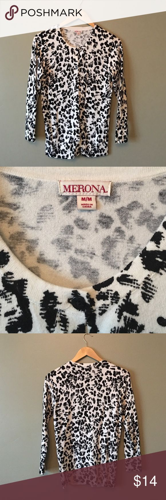 Merona leopard sweater Merona leopard sweater. Great for winter layering! Merona Sweaters Cardigans