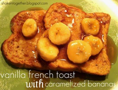 French Toast with Caramelized Bananas