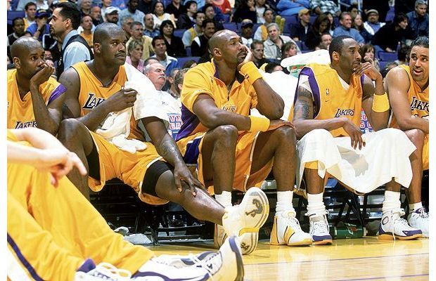 Lakers' Hall of Fame Roster Loses to the Pistons Date: 6/6/2004 Game 1, 2004 NBA Finals