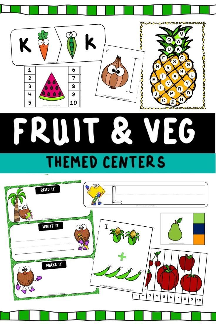 Fruits And Vegetables Themed Literacy And Math Centers Free Printable Worksheets For Kids Worksheets Printables Free Printable Worksheets Worksheets For Kids [ 1102 x 735 Pixel ]