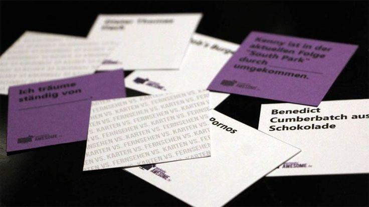 """Wir haben eine deutsche Serien-Variante zum total unterhaltsamen Kartenspiel gemacht. """"Cards Against Human-TV"""" könnt ihr kostenlos herunter laden! :) https://www.langweiledich.net/kostenlose-tv-variante-von-cards-against-humanity/"""