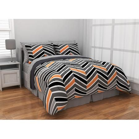 Latitude Zig Zag Neon Bed-in-a-Bag Bedding Set