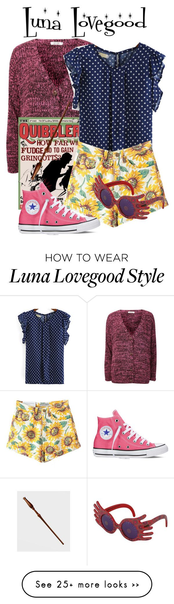 """""""Luna lovegood"""" by ravenclawchick852 on Polyvore featuring Luna, Converse and INC International Concepts"""