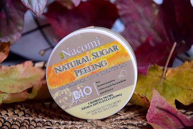 Nacomi, naturalny peeling cukrowy z olejkiem macadamia i olejkiem pomarańczowym