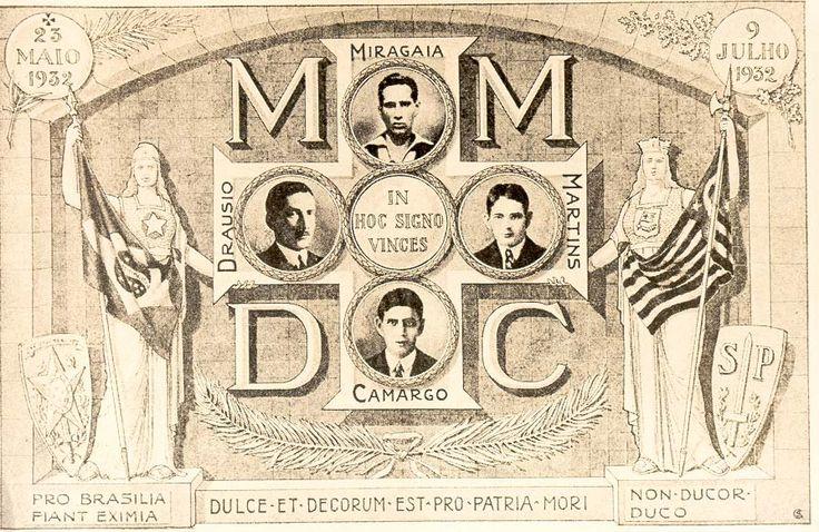 Cartão Postal do MMDC, 1932. São Paulo (SP). (CPDOC/ CDA Roberto Costa)