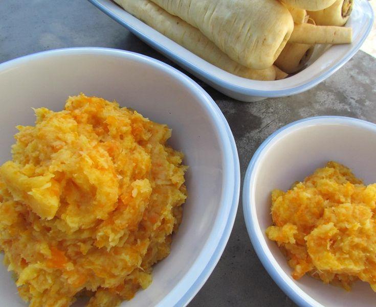 Parsnip and Carrot Mash. A fantastic tasting mash with a bright taste of fresh orange.
