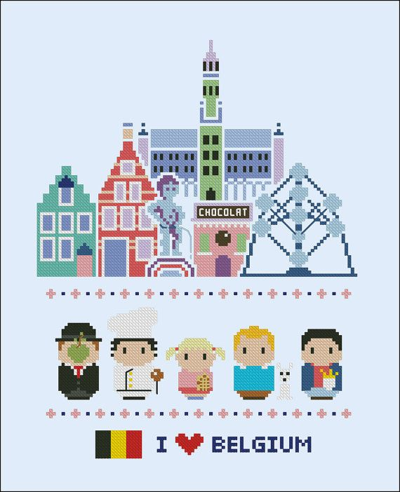 Belgium icons Mini people around the world PDF by cloudsfactory