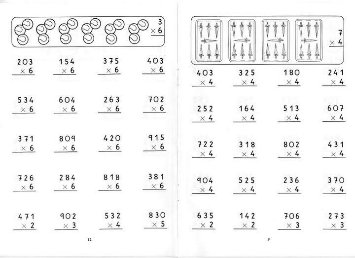 Multiplicaciones Por Una Cifra Fichas Para Niños Multiplicacion Actividades De Multiplicación Matematicas Tercero De Primaria