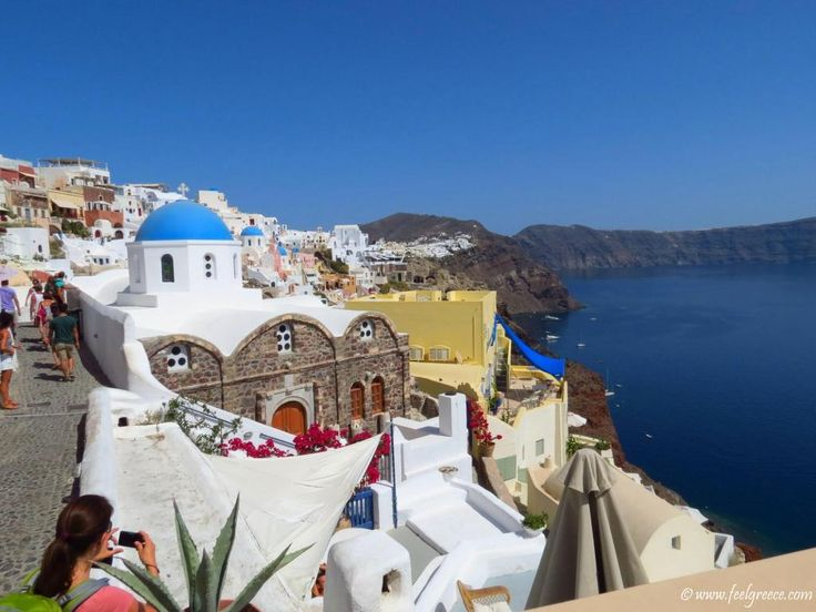 An alley in Oia with Caldera view