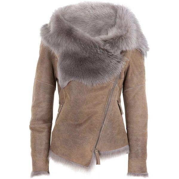 Karl Donoghue Toscana lambskin biker jacket ❤ liked on Polyvore